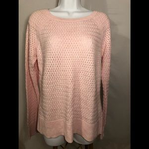 American Eagle Pink Sweater with zip up back L